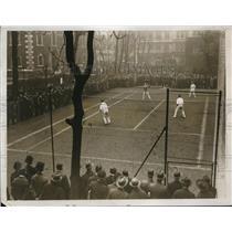 1927 Press Photo Lawn Tennis Game in Progress at St. Botolph, Bishopsgate