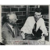 1949 Press Photo Easy Ed Macauley, St. Louis Univ., C.D.P. Hamilton, BAA Bombers