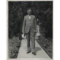 1933 Press Photo Edward J Ginnan Fire Chief Of Chicago