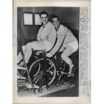 1948 Press Photo Brooklyn Dodger team mates training for new season