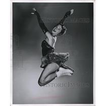 1955 Press Photo Frances Dorsey Under the Stars Ice Follies - nes08232