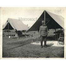 1911 Press Photo US Army officer in front of field tent