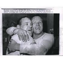 1961 Press Photo Dick Modzelewski, Jim Katcavage, New York Giants - nes08703