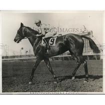 1933 Press Photo Buddy Hanford Wins on Royal Ruffin Hialeah Park, Miami Florida