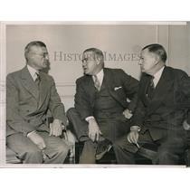 1936 Press Photo William Harridge, Donald Barnes, St. Louis Browns, L. Von Weise