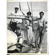 1933 Press Photo George Boedecker w/ his 2 sons George & Herman & Jack Hillis
