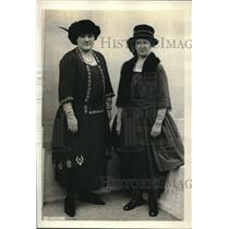 1921 Press Photo Christman and VanKleek Women Attend Unemployment Conference