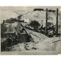 1928 Press Photo Snow-slide at Bingham, Utah