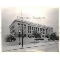 1935 Press Photo Baton Rouge Louisiana Courthouse Site Of Anti-Huey Long Protest