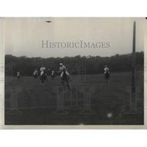 "1928 Press Photo ""Blues"" Harriman scoring 4th goal against American Int'l Team"