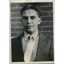 1934 Press Photo Joseph Grone, 23, of Philadelphia.