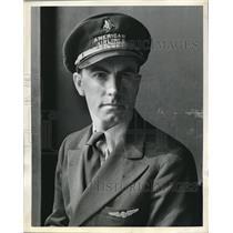 1938 Press Photo William E. Hinton, Second Pilot for American Airlines