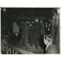 1934 Press Photo Socialists And Communists Riot At Madison Square Garden NYC
