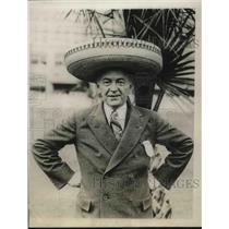 1929 Press Photo A Mexican Crown for a Legion Head. Edward E. Spafford.