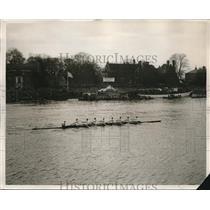 1928 Press Photo Cambridge Crew Team Wins University Boat Race - nes10124