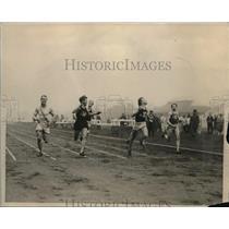 1926 Press Photo Ellis of Exeter Winning 100 Yd. Dash at Harvard Track Meet