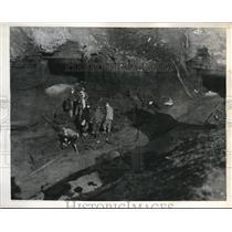 1944 Press Photo Blasted Mine Katherine Coal Company