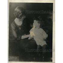 1921 Press Photo Mrs Eleanor Taylor Marsh Editor Feminist Magazin & Son Michael