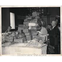 1931 Press Photo Roy Mericle Examiner JR Henderson Chief David Spence Police