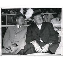 1961 Press Photo Former American League Pres Will Harridge w/ Joe Cronin