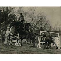 1923 Press Photo At the Army Relief Fun Drill at Fort Myer Cavalaryman.