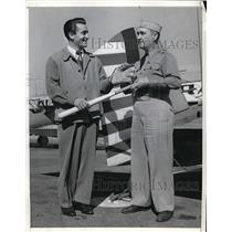 1942 Press Photo St Louis Browns John Berardino & Maj FE Benedick