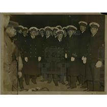 1934 Press Photo Group of Navy Men.