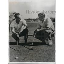 1935 Press Photo Arthur Lynch, Charles Whitehead at Miami Biltmore golf