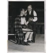 1934 Press Photo Jimmy McLarnin and trainer Barney Ross - nes11808