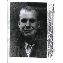 1961 Press Photo NYC, Knickerbockers forward Kenny Sears after jaw wired shut
