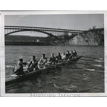 1941 Press Photo Columbia Rowing Crew in New York - nes13238