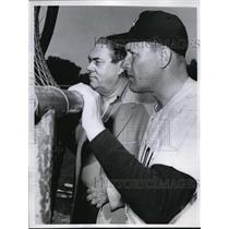 1961 Press Photo Yankee Skipper Houk and Manager Hamey Scouting Talent