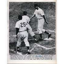 1952 Press Photo Hank Sauer, JOhn Framesa, - nes11083