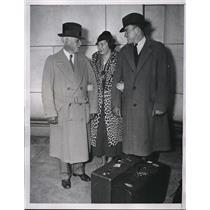 1934 Press Photo Joe Cronin Manager Boston Red Sox New Bride Washington D.C.