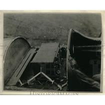 1928 Press Photo Radio receiving set with a reed indicator