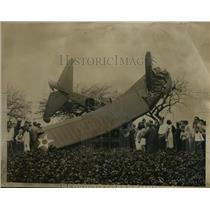 1935 Press Photo Flying from Boston to mitchell field LI MJ John Haywood and