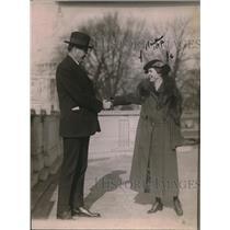1921 Press Photo Miss Jesse Manters Contralto Singer & Congressman Lucian Parish