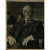 1927 Press Photo Professor Willard Atkins New York University