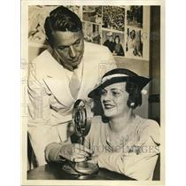 1934 Press Photo NBC Radio Star Arthur Jacobson with Dorothy LeFold Beauty Queen