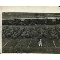1928 Press Photo West Point Cadets Parade on Home Football Grounds