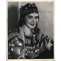 1923 Press Photo The Smiling Face of Cymbalin Musician Verona Mikova - nez08915