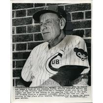 1967 Press Photo Cubs manager Leo Durocher in the dugout - nes17094