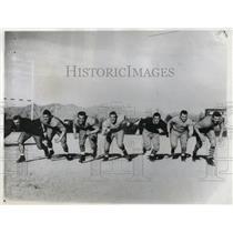 1933 Press Photo Columbia Univ football, Matai, Jachel,Dzanba,Wilger,