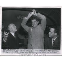 1954 Press Photo NY Yankee mgr Casey Stengel Bob Turley & Billy Hunter