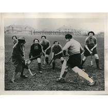 1938 Press Photo Middlesex, England womens auxillary air force hockey