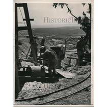 1937 Press Photo Silver miners south of SAn Francisco