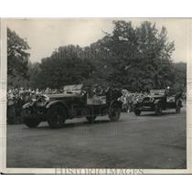 1924 Press Photo Round The World Flyers Pass Review at Defense Day in WA