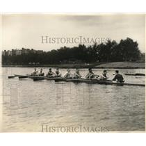 1930 Press Photo The Harvard Rowing Crew in Practice for The Yale Races