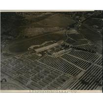 1938 Press Photo Aerial View Santa Anita Racing Track