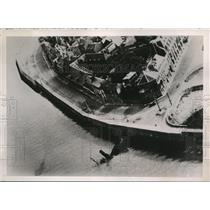 1940 Press Photo A Nazi plane took this photo showing a sunken ship
